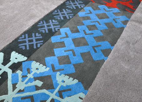 Modern Rug inspired by Sardinian Patterns   Custom Rug made by Urba Rugs