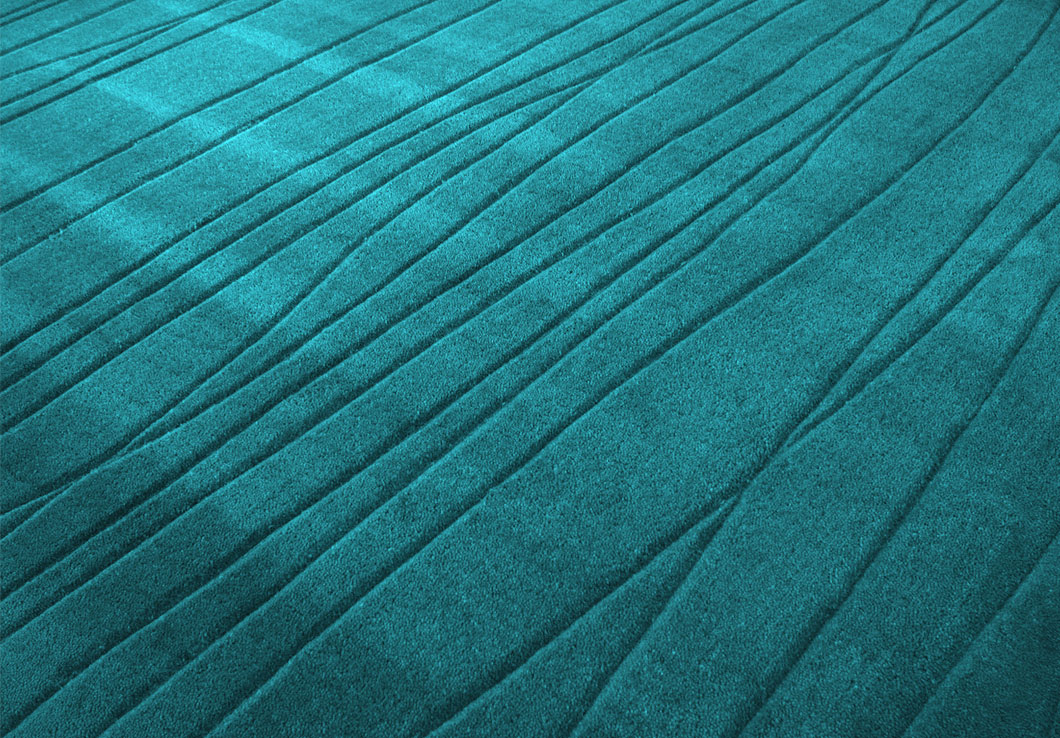 Close view of our Adele Rug in Turquoise | Urba Rugs