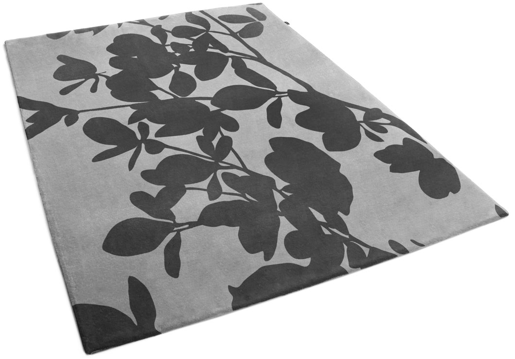 High-End Rug with Gorgeous Floral Pattern in Black | Bella | Urba Rugs