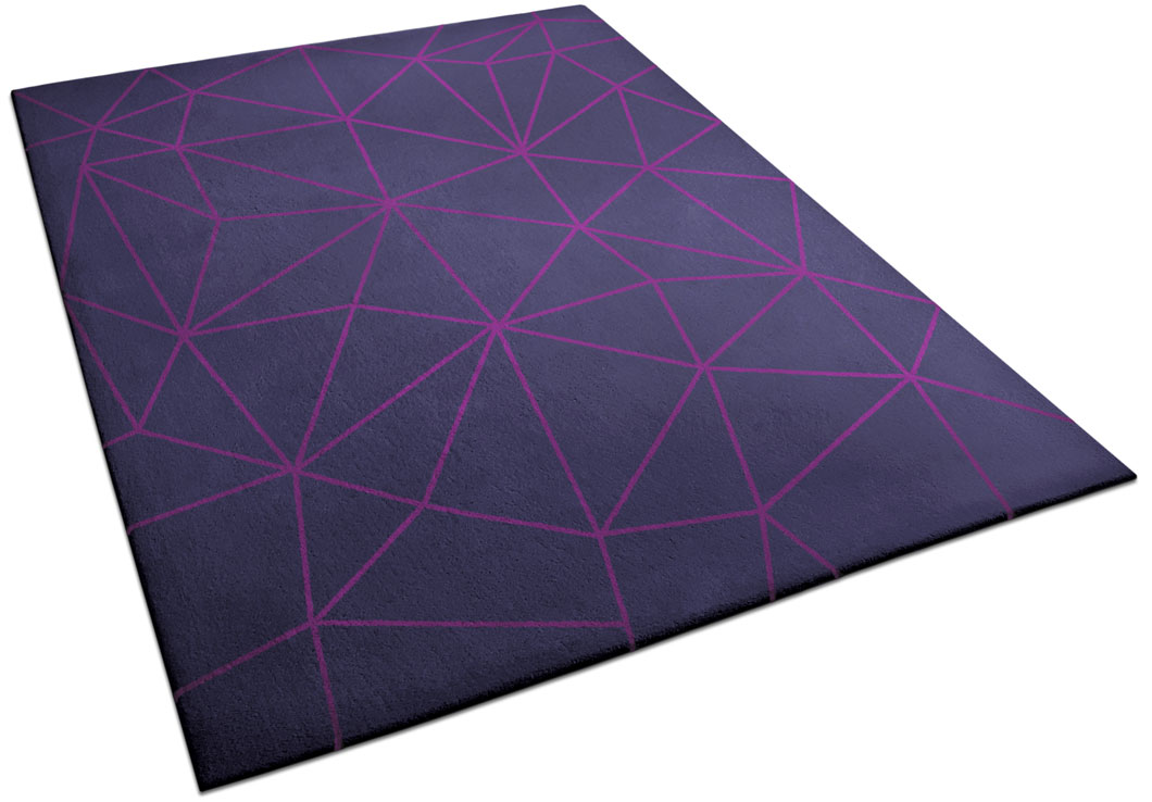 Modern Rug with Geometric Design made of Triangle Pattern | Cecilia | Urba Rugs