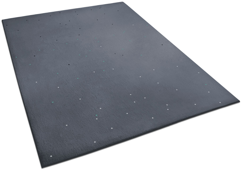 Astronomy-Inspired Rug with Tiny Bright Circles | Celeste | Urba Rugs