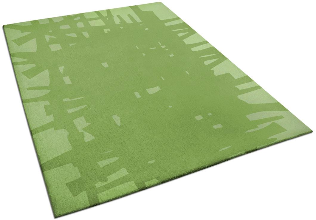 Abstract Rug Design in Green Tones | Edgar | Urba Rugs
