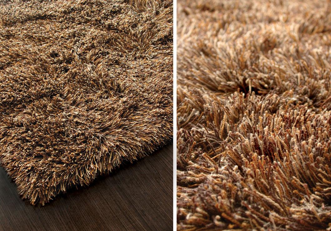 Modern Shag Rug in Neutral Tones Made of Multi Tones Linen Yarn | Elliot | Urba Rugs