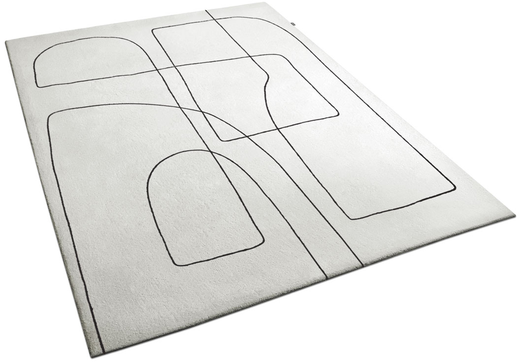 Mid-Century-Inspired Rug with Abstract Curvy Lines | Emile | Urba Rugs