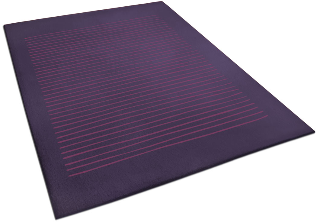 Purple Area Rug with Hand Drawn Line Pattern   Harry   Urba Rugs