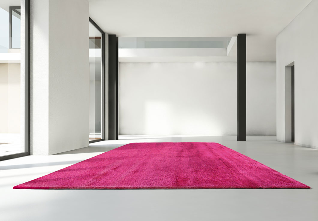 High-End Pink Sparkle Area Rug in Contemporary Space | Lola | Urba Rugs