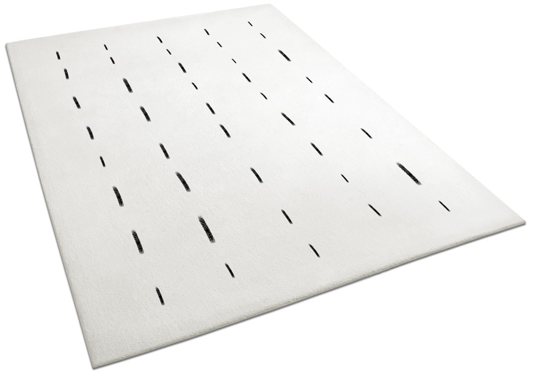 Marco, White Rug with Dotted Lines Pattern | Urba Rugs