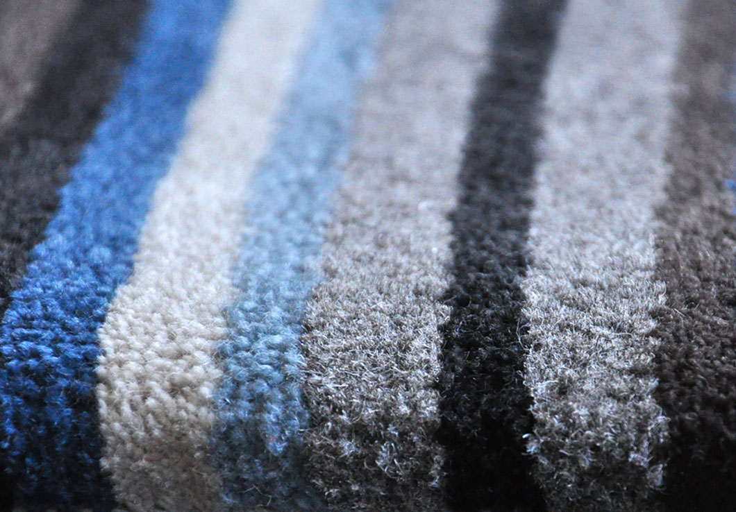 Detail of Matheo, our Striped Rug in Multicolored Shades | Urba Rugs