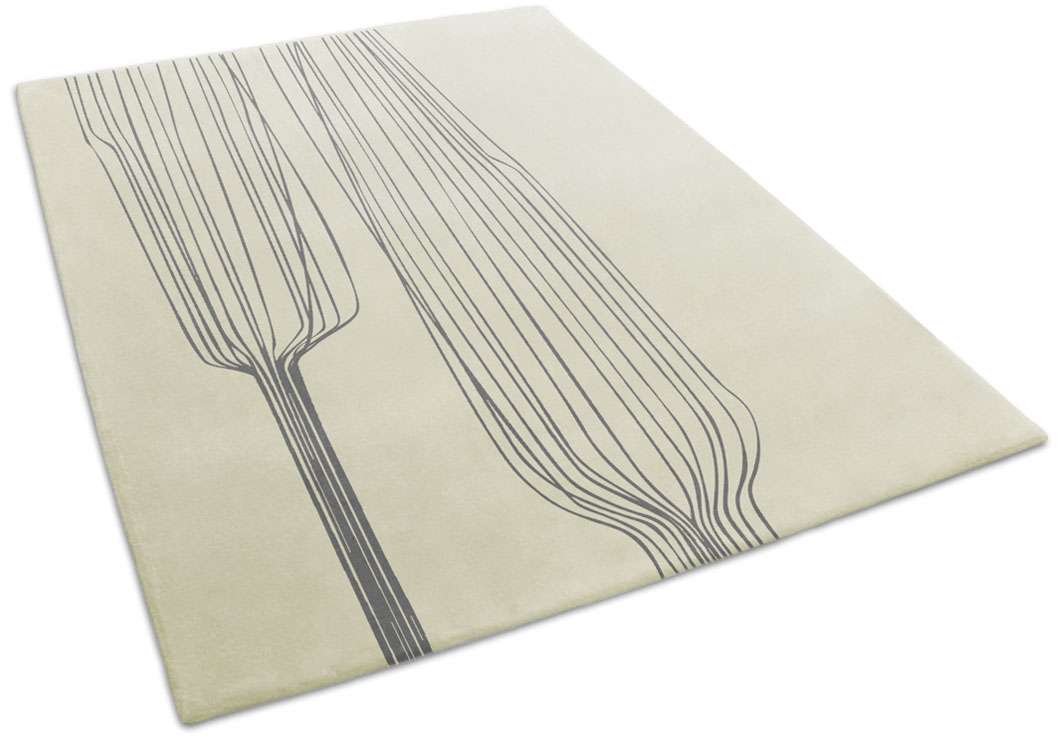 Nature-Inspired Rug with Abstract Organic Pattern | Ursula | Urba Rugs