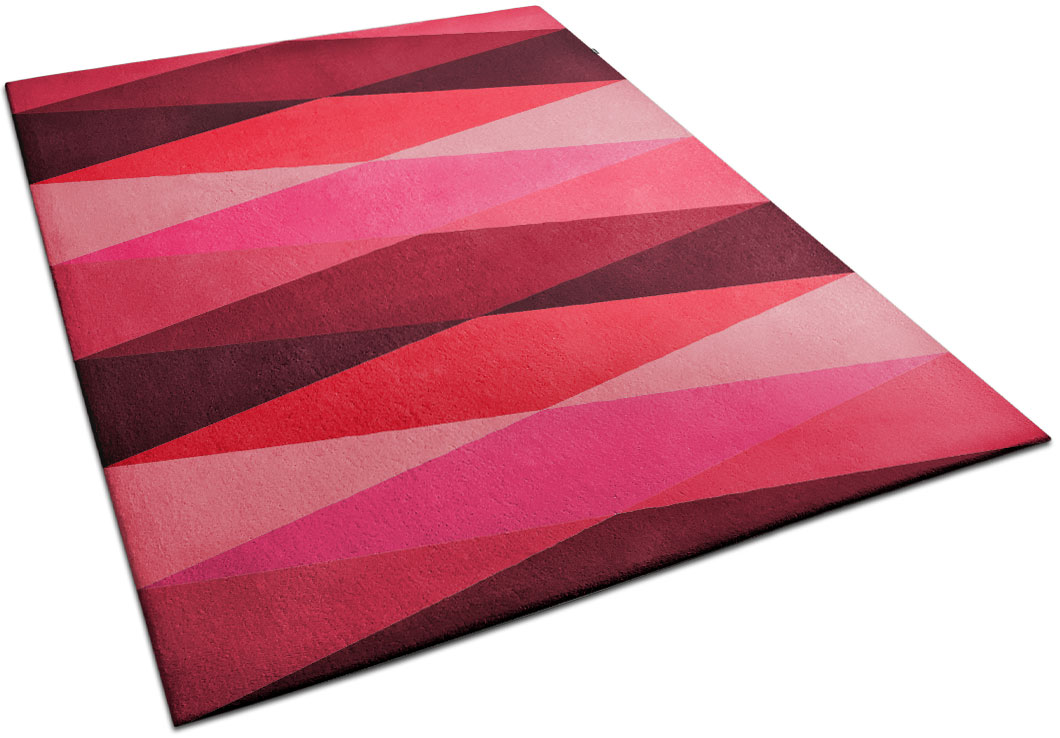 Multi-tone Pink Rug with Diamond Pattern in a Modern Decor | Victor | Urba Rugs