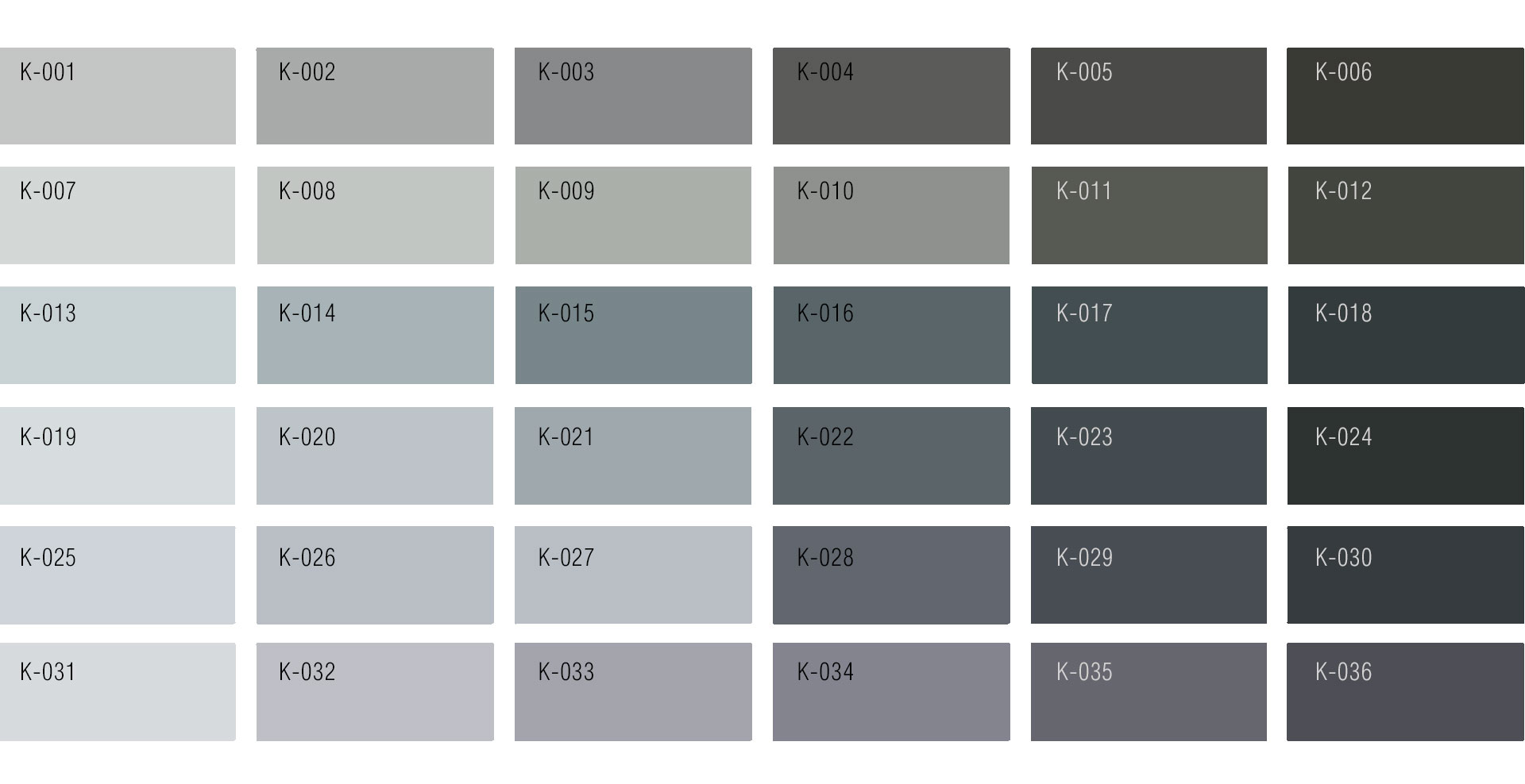 Black & Gray Colour Chart | Custom Rug service by Urba Rugs