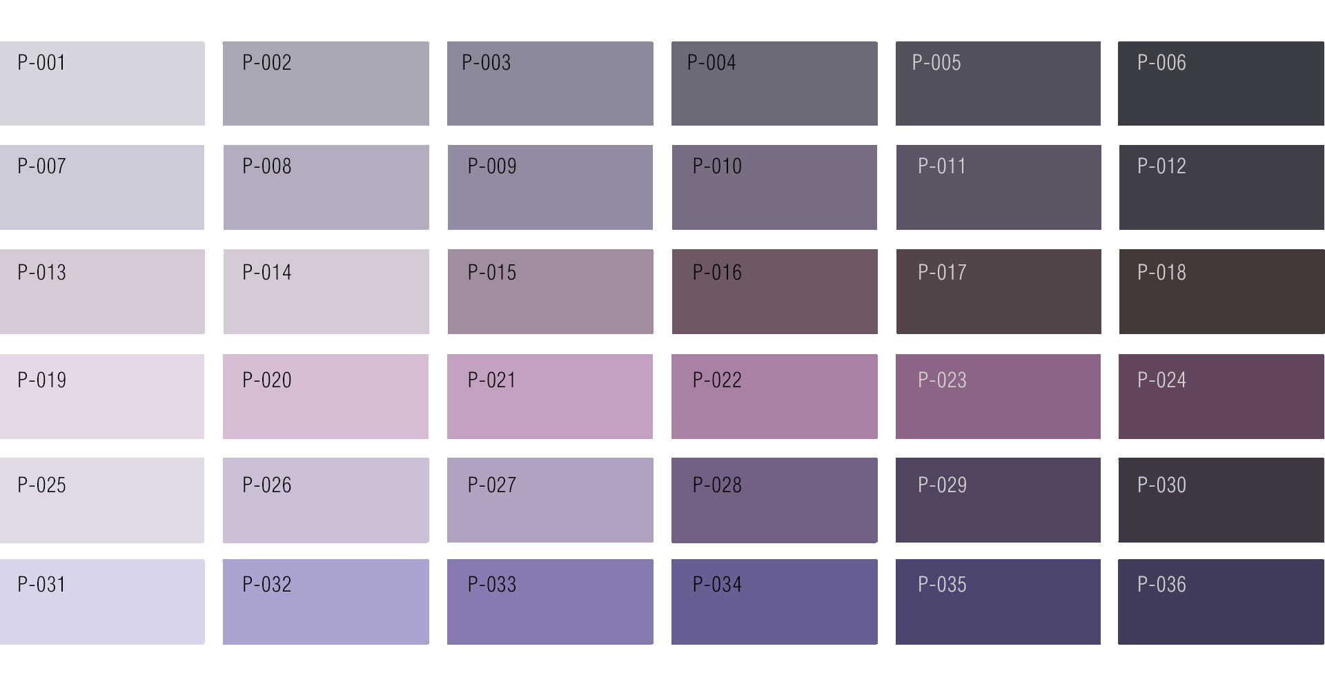 Purple Color Chart | Custom Rug service by Urba Rugs