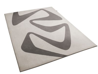 Augusto Rug: a beige rug with a swirl pattern made by Urba.ca