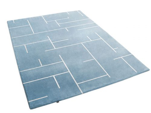 Labyrinth Rug In Shades of Blue Gray | Charlot | Urba Rugs