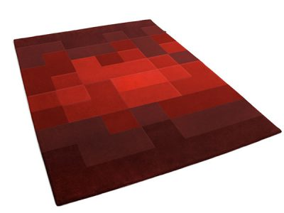 Pixel Rug made of Multiple Shades of Red | Christof | Urba Rugs