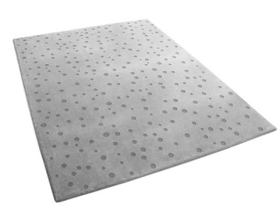 Polka Dot Area Rug with Hand Carved Relief | Gaby | Urba Rugs