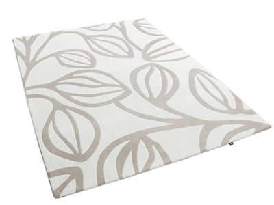 Botanical Rug Featuring Large Outlined leaves | Odile | Urba Rugs