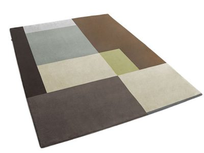 Modern Patchwork Rug in Solid Neutral Colors   Stephano   Urba Rugs