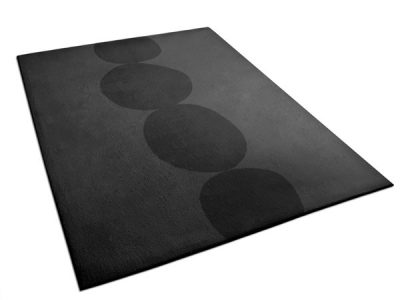 Contemporary Black Rug with Large Pebble Pattern | Anouk | Urba Rugs
