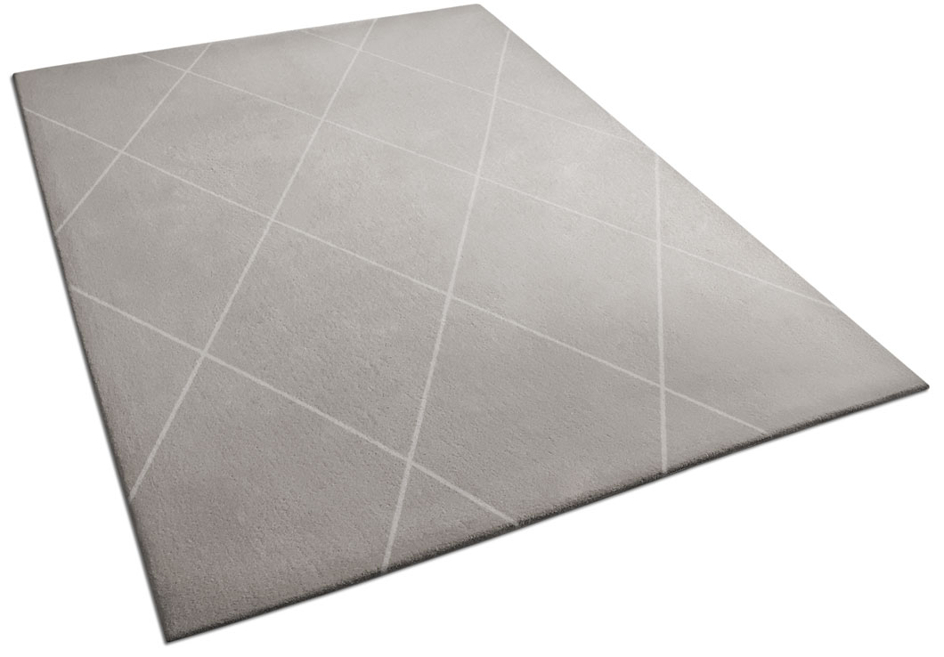Gray Rug with Diamond Pattern | Urba Rugs