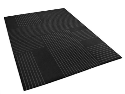 Edouard, a black rug with fine white lines | Urba Rugs