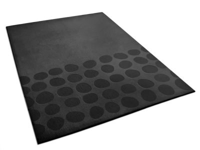 Fred, anthracite area rug with pebblestone pattern | Urba Rugs