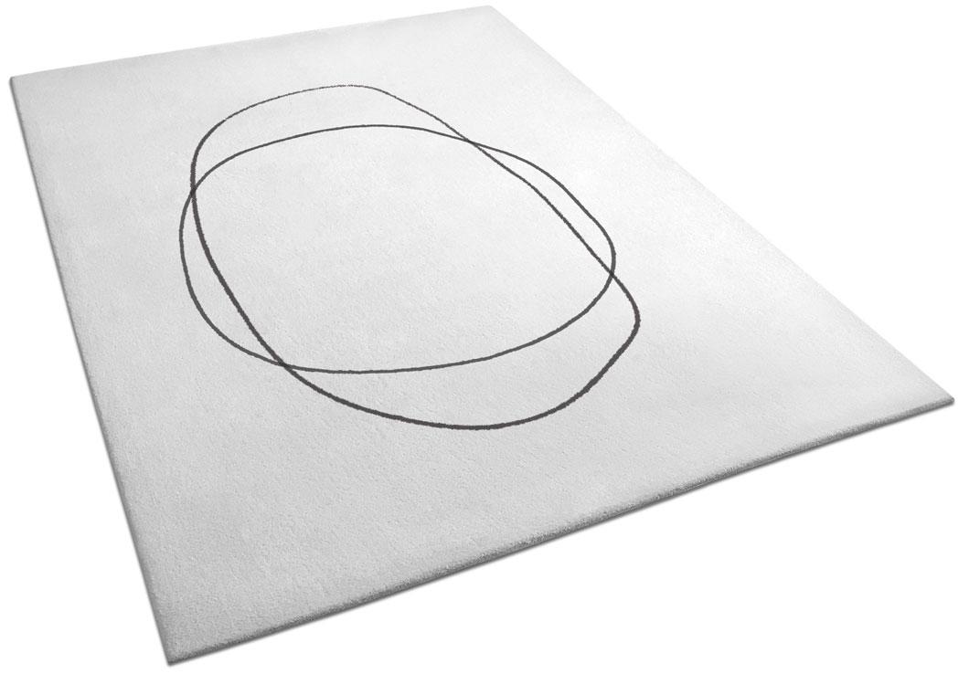 Minimalist Rug with Circular and Oval Pattern | Leolo | Urba Rugs
