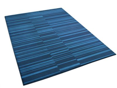 Two-Tone Blue Rug with Mixed Stripe Pattern | Marius | Urba Rugs