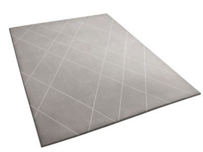 Gray Pewter Rug with Diamond Pattern | Victoria | Urba Rugs