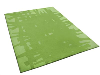 Edgar | Modern Green Rug with abstract pattern | Urba Rugs