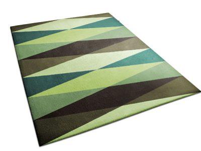 Multicolored Rug with Diamond Pattern   Victor   Urba Rugs