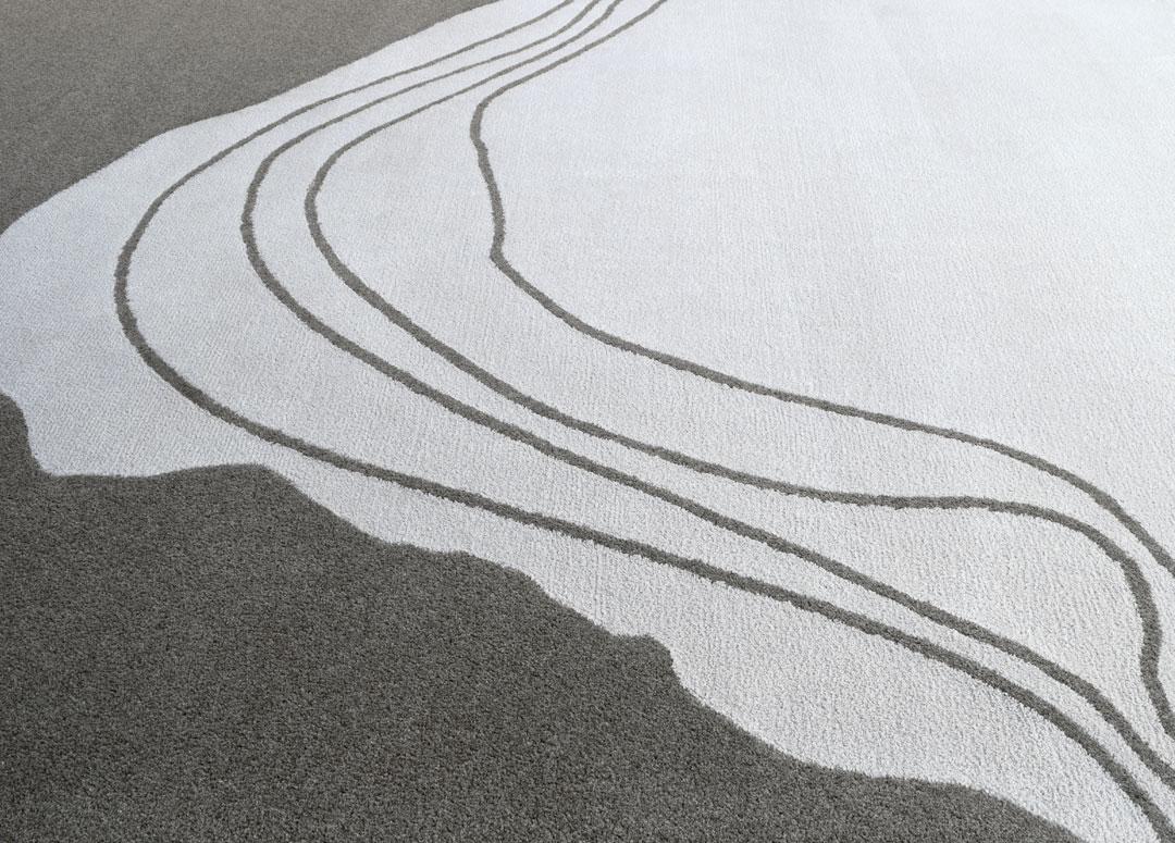 Topographic Rug in Gray Tones | Custom Rug Maine | Urba Rugs