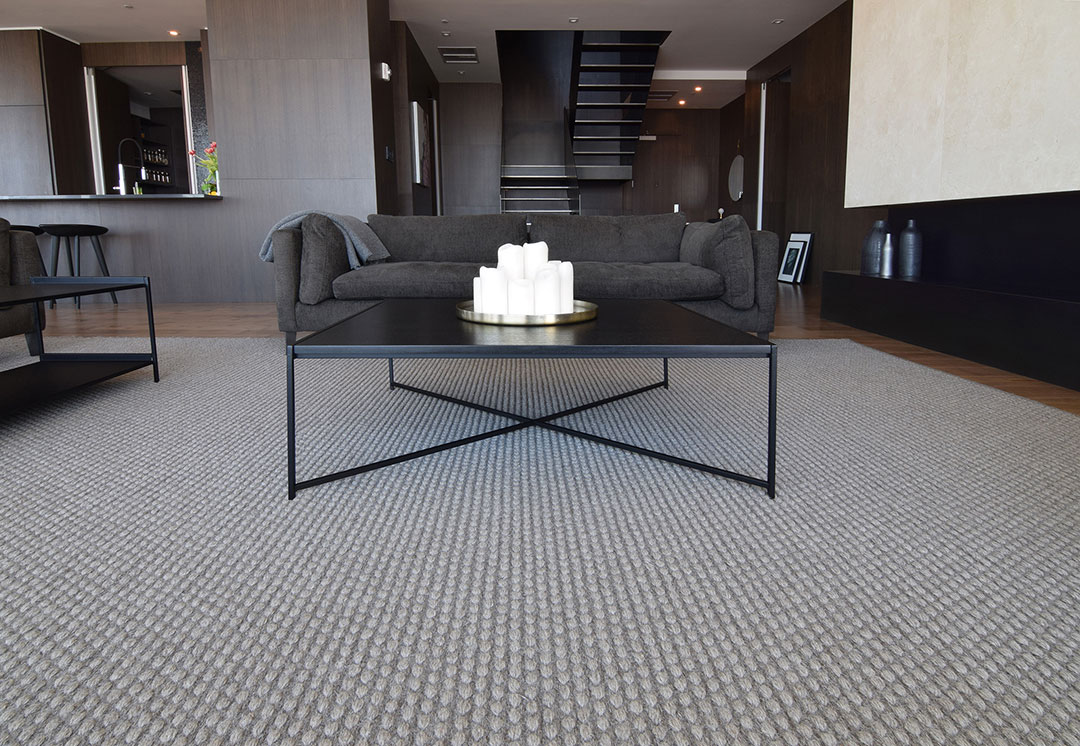 Large Woven Carpet in a Contemporary Space in Montreal | Custom Rug | Urba Rugs