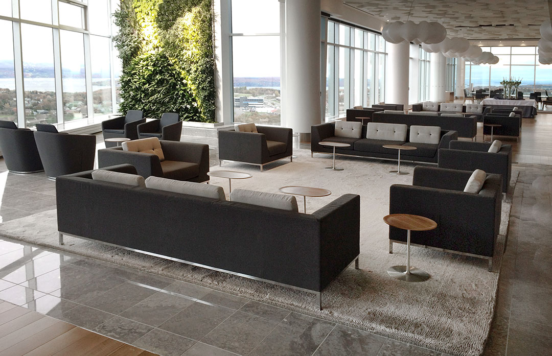 Large Scale Bespoke Carpet for Luxurious Modern Office | Custom Rug Canada | Urba Rugs