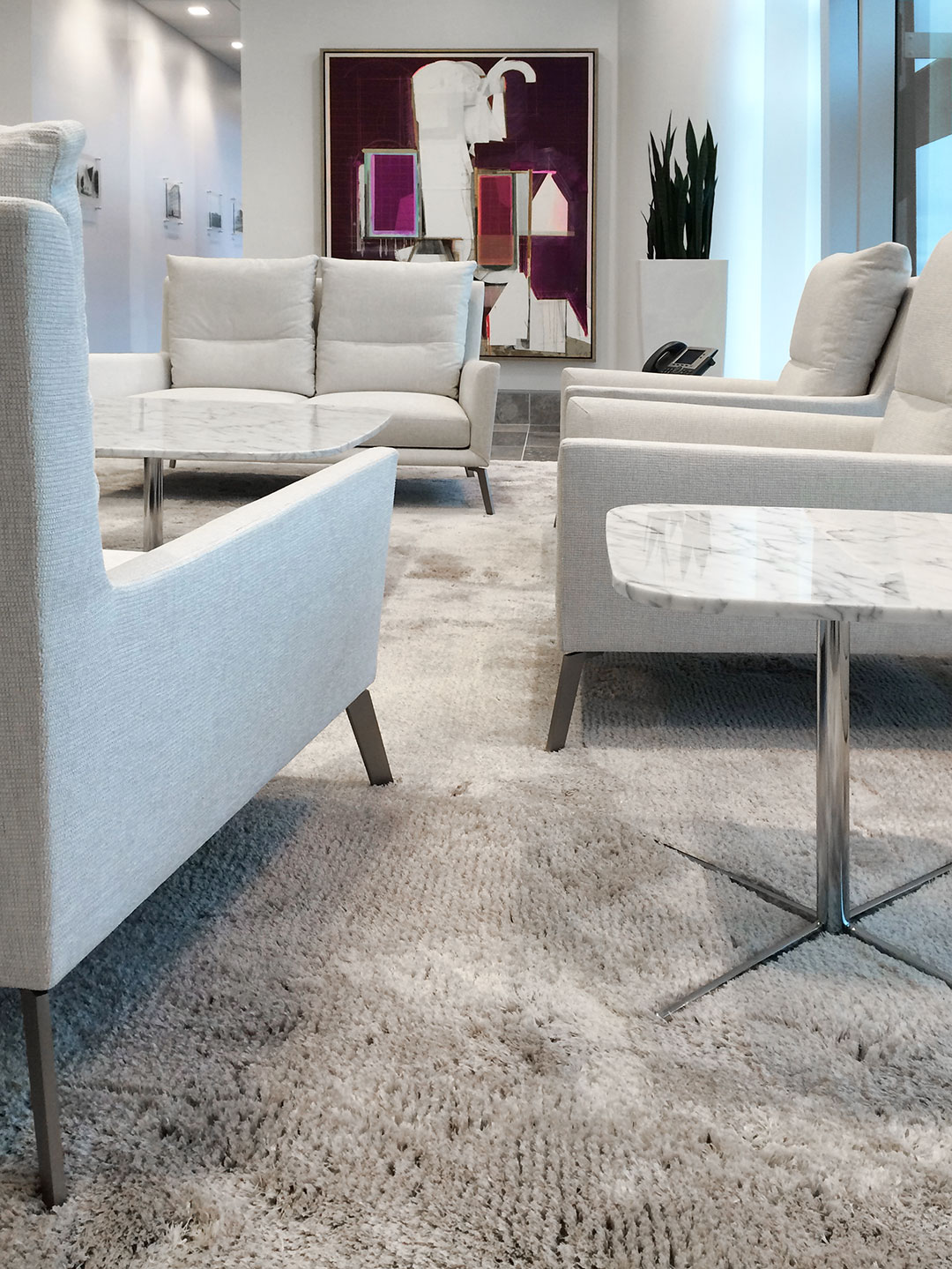Luxurious Rug for Modern Lobby in Canada | Custom Office Rug | Urba Rugs