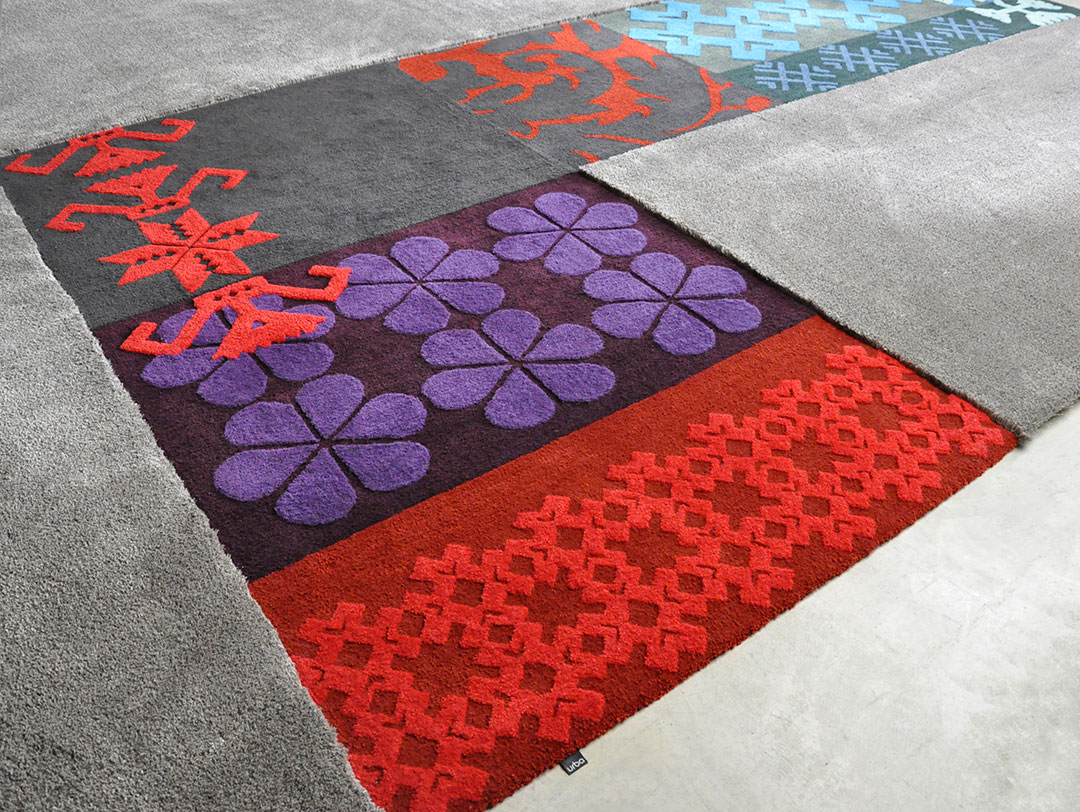Custom Rug inspired by Sardinian Patterns. Traditional Patterns. | Urba Rugs Canada