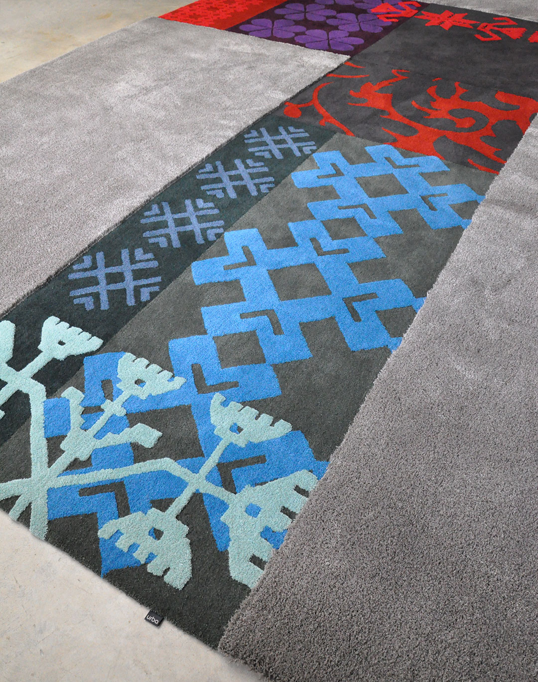 Custom Rug inspired by Sardinian Patterns. Hand Carved Traditional Patterns. | Urba Rugs
