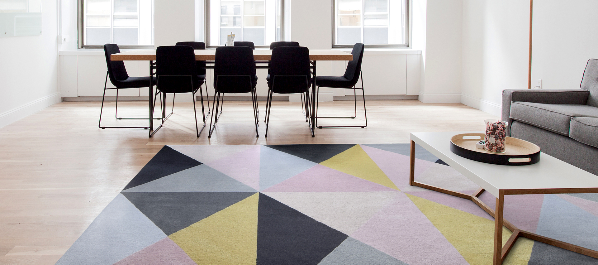 Custom Rug in a conference room | Urba Rugs Canada