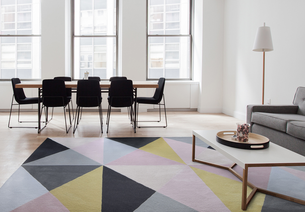 Custom Area Rug in a business space | Urba Rugs Canada