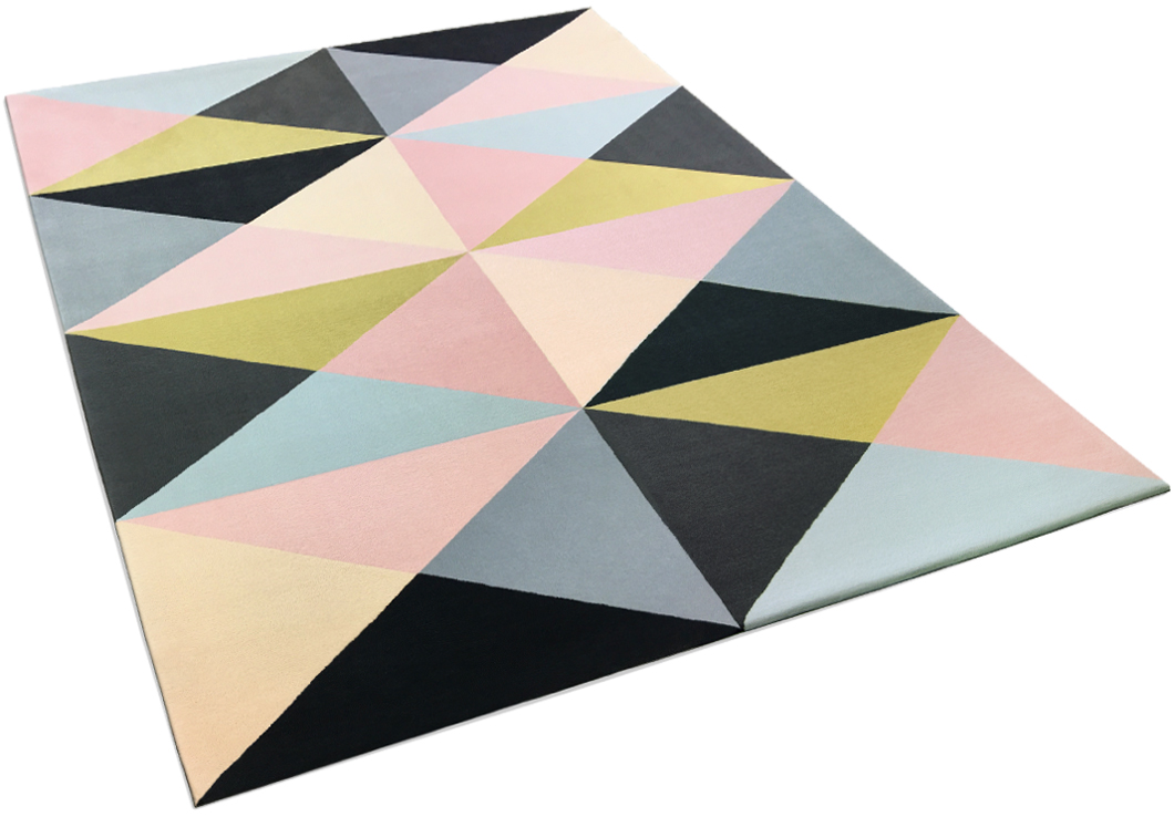 Colorful Rug with geometric pattern | Anais | Urba Rugs Canada
