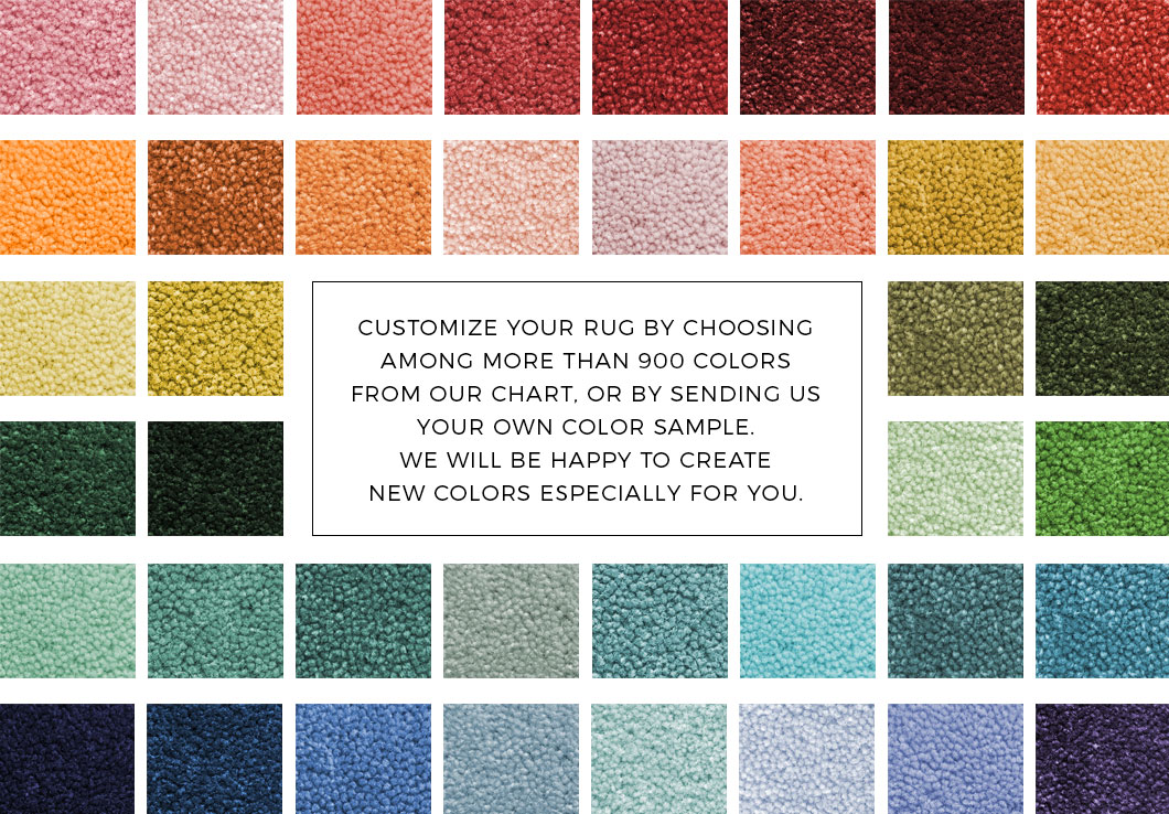 Custom Rug Service by Urba Rugs | Color Chart