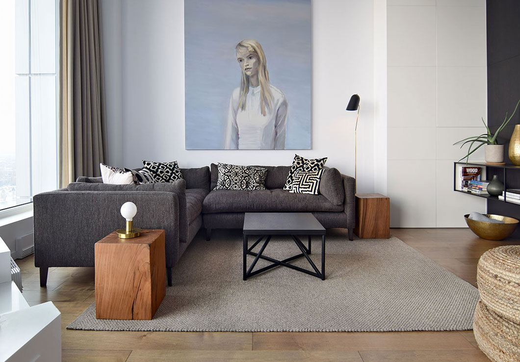 Hand-Woven Rug in a Contemporary Living Room | Lea | Urba Rugs