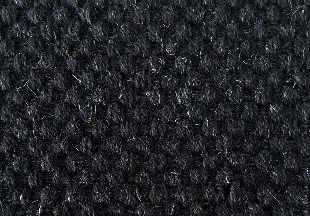 Basket weave | Black Handwoven Rug | Urba Rugs