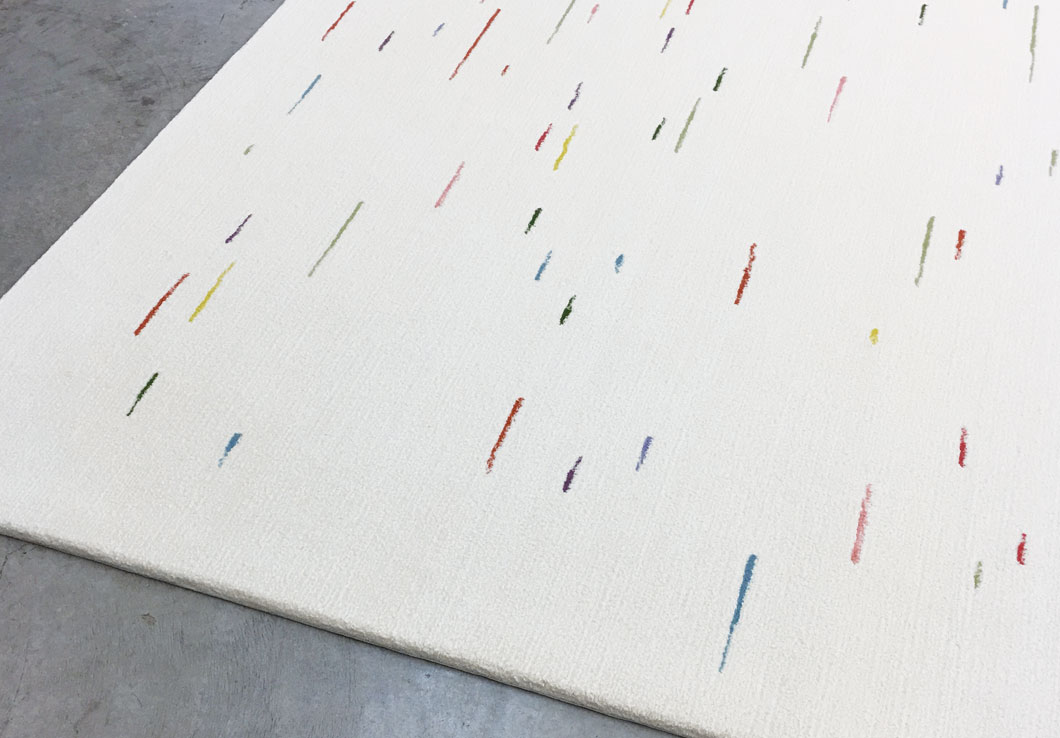 Joyful Rug with Multicolored Dashed Lines | Louisa | Urba Rugs
