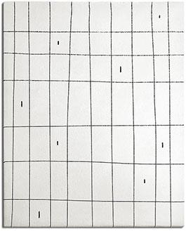 Manu, a Cream Rug with a Black Grid Pattern | Urba Rugs