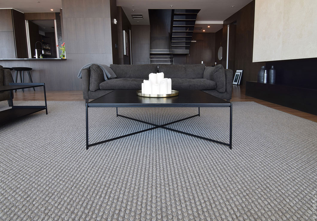Modern Handwoven Rug in a Luxurious Penthouse | Custom Woven Rug | Urba Rugs