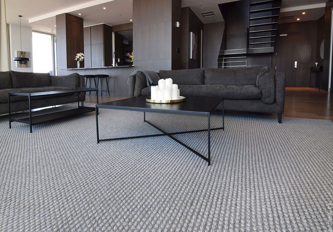 Gray Handwoven Rug in a Contemporary Living Room | Custom Woven Rug | Urba Rugs