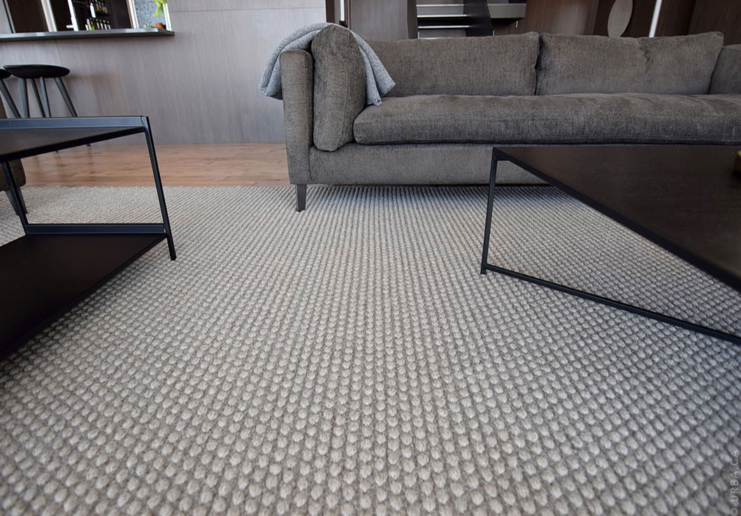 Gray Hand-Woven Rug in a Modern Living Room | Custom Woven Rug | Urba Rugs