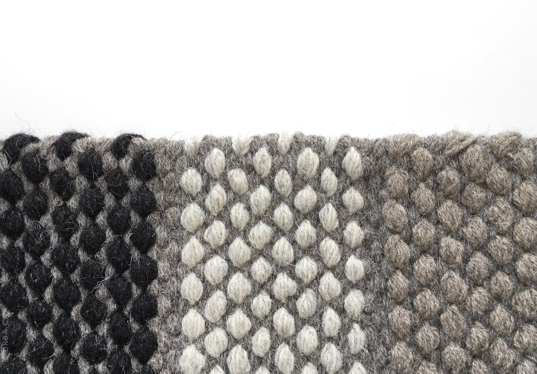 Gray Woven Rug with accents of Black, Cream and Beige colors | Custom Woven Rug | Urba Rugs